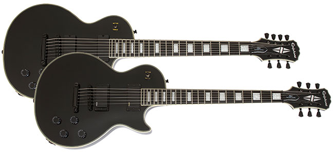 Ltd. Ed. Matthew K. Heafy Epiphone Les Paul Custom and Les Paul Custom 7-String