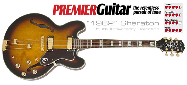 Premier Guitar Reviews The 50th Anniversary 1962 Sheraton