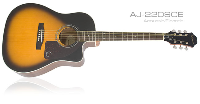 Guitar Player Reviews The Epiphone AJ-220SCE Acoustic/Electric
