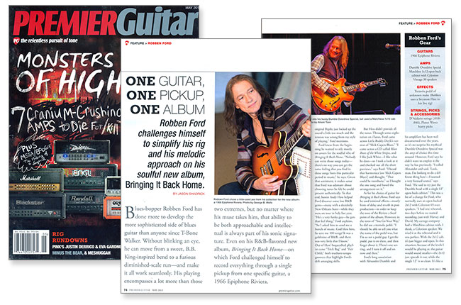Robben Ford Records Entire Record with Epiphone Riviera