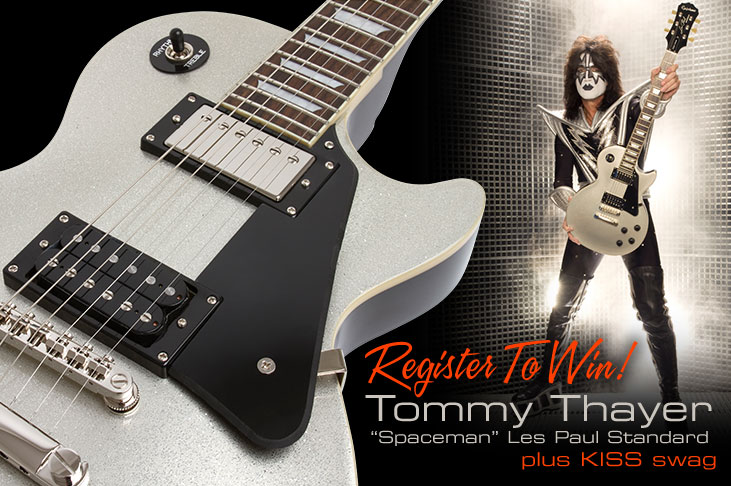 Register To Win an Epiphone Tommy Thayer Spaceman Les Paul Standard