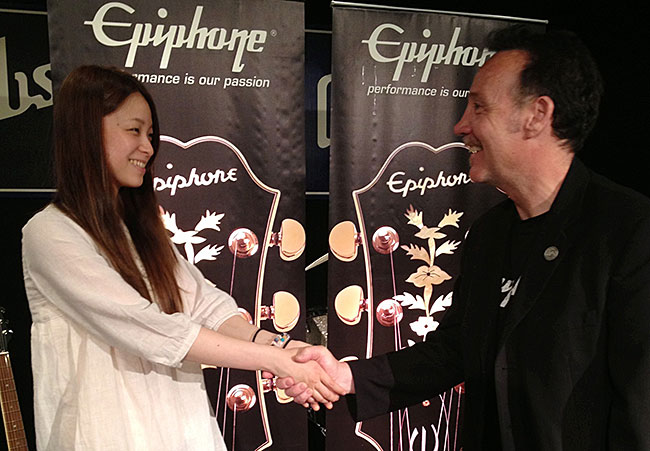 Epiphone Welcomes Rina Katahhira To The Family