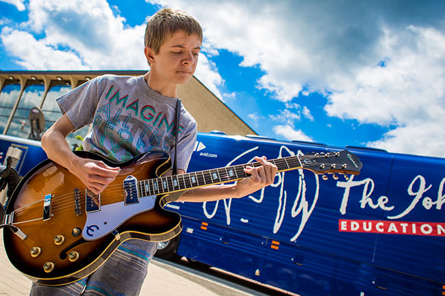 Epiphone Sponsors The John Lennon Educational Tour Bus