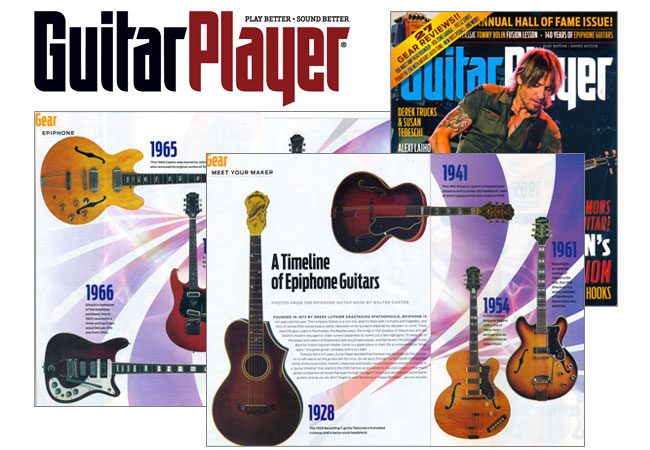 Guitar Player Presents A Timeline of Epiphone Guitars in November 2013 Issue