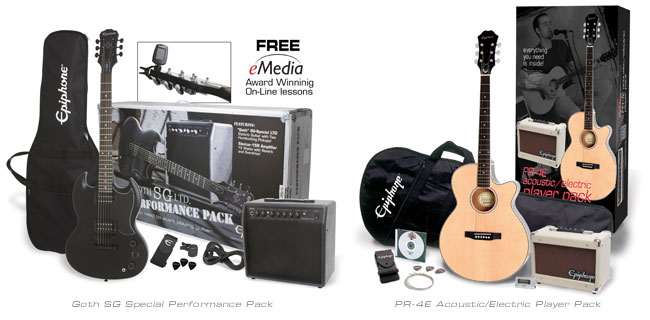 Epiphone Player and Performance Packs