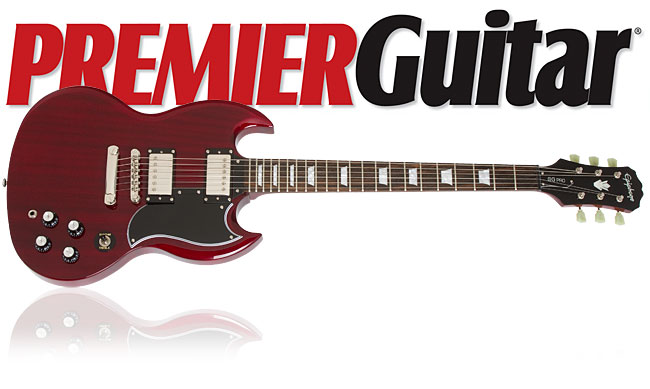Premier Guitar Reviews The Epiphone G-400 PRO