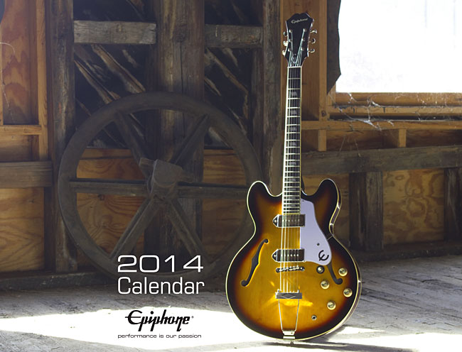 Epiphone 2014 Calendar