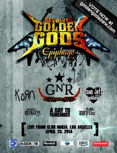 Nominees Announced for Sixth Annual Revolver Golden Gods Awards Show Presented by Epiphone