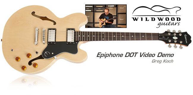 Greg Koch Demo's The Epiphone DOT for Wildwood Guitars