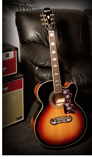 Epiphone EJ-200CE: King of the Flat-tops