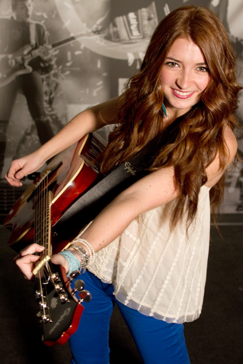 Tenille Visits Epiphone Headquarters In Nashville