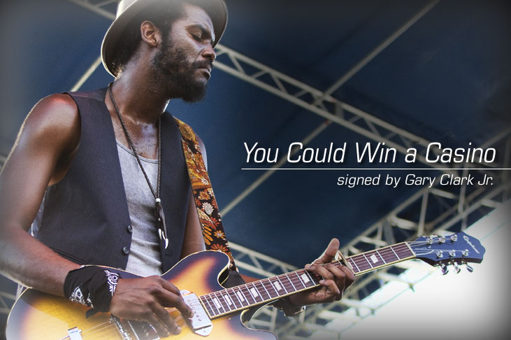Win an Epiphone Casino signed by Gary Clark Jr.
