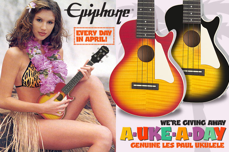 Epiphone's April Ukulele Bonanza