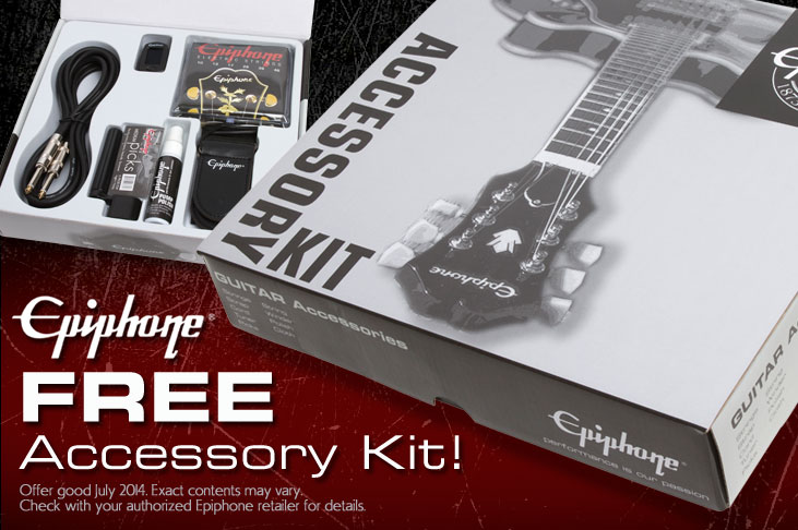 Get a Free Acessory Kit for you new Epiphone Designer, SG, or Goth!
