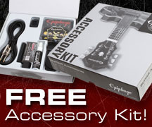 Get a Free Accessory Kit for you new Epiphone Designer, SG, or Goth!