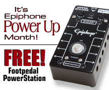 Get a Free Epiphone Footpedal PowerStation!