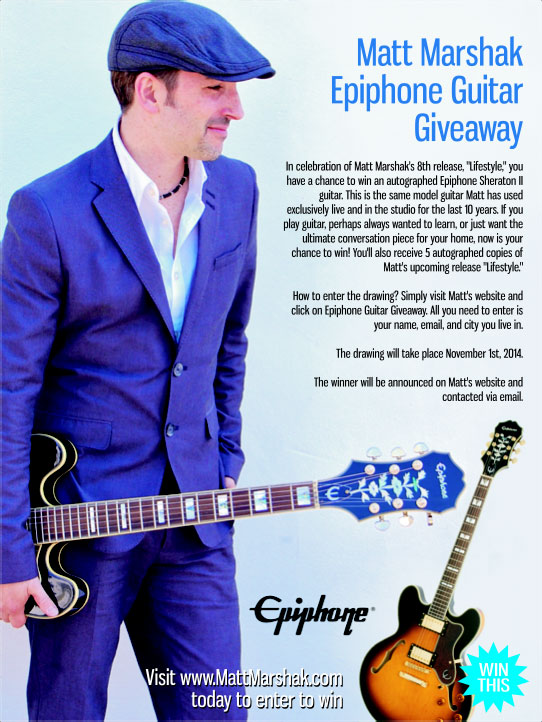 Matt Marshak Epiphone Guitar Giveaway