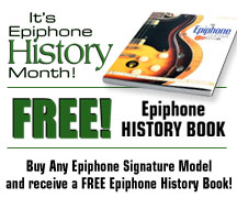 Get a Free Epiphone History Book!