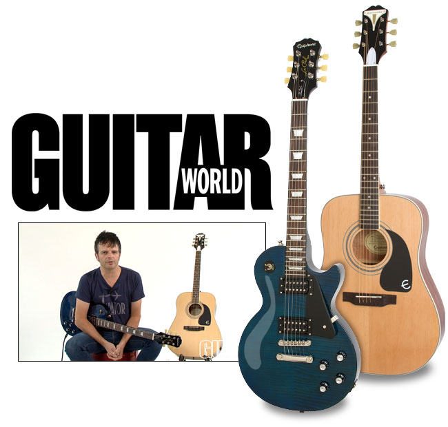 Paul Riario at Guitar World Reviews The Epiphone Les Paul Classic T and PRO-1 Plus