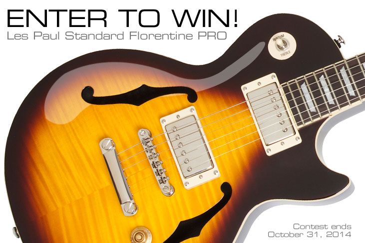 Win a New Ltd. Ed. Les Paul Standard Florentine PRO!