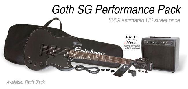 Epiphone Goth SG Performance Pack