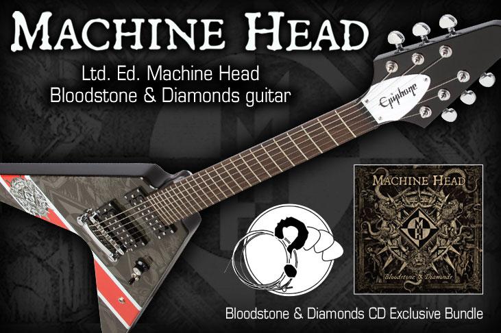 Ltd Ed Machine Head Bloodstone & Diamonds Guitar