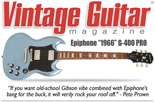 Vintage Guitar Reviews The 1966 G-400 PRO
