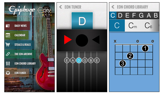 Epiphone presents the EON, the new Epiphone Owners Newsletter App