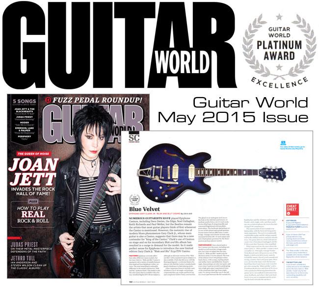 Guitar World Gives Blak & Blu Casino Highest Award