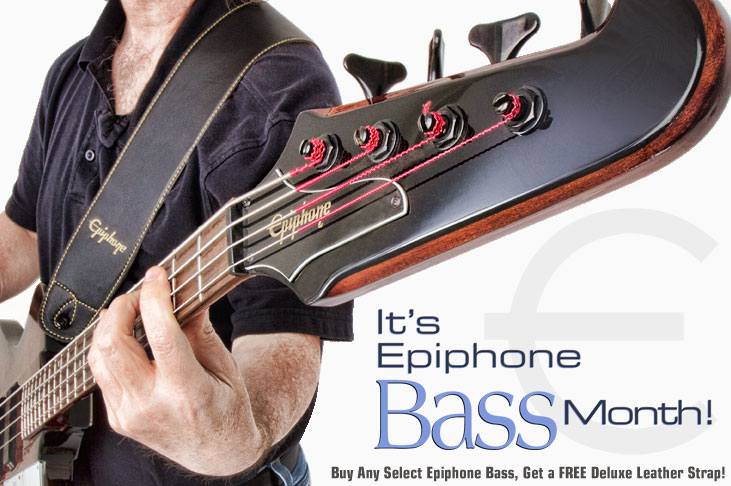 It's Bass Month! Get A Free Deluxe Leather Strap!