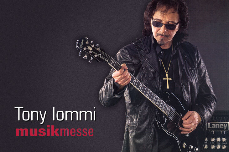 Tony Iommi Visits Epiphone Booth for Musikmesse 2015