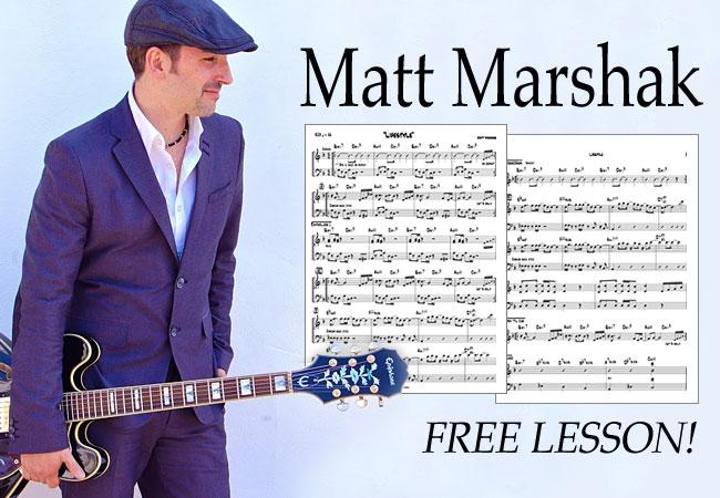 Get A Free Guitar Lesson From Matt Marshak