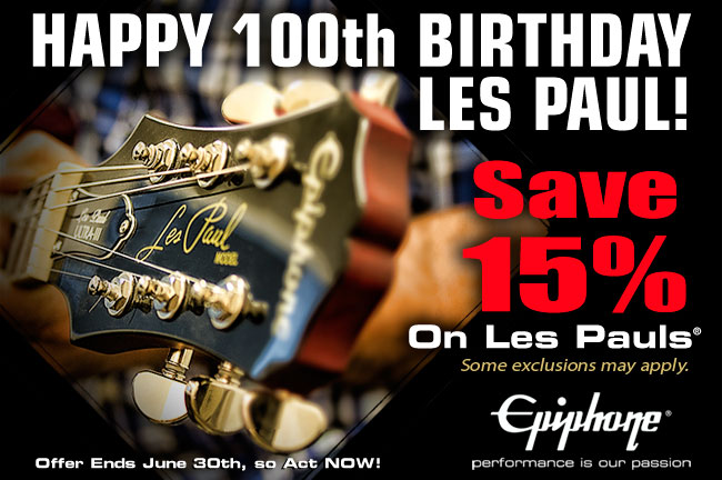 Epiphone Celebrates Les Paul's 100th Birthday With a One-of-Kind Sale