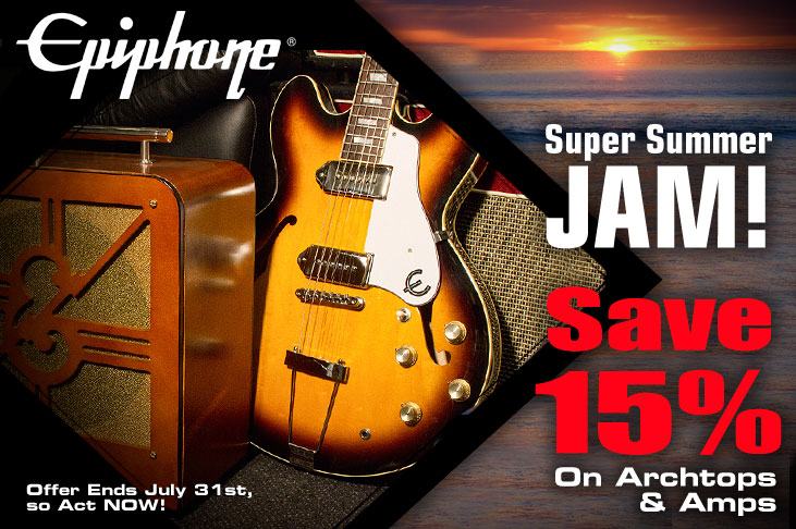 Epiphone's Super Summer Jam Archtop Sale