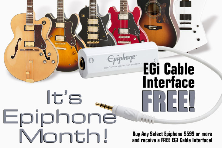 It's Epiphone Month! Free EGi Mobile Guitar Interface