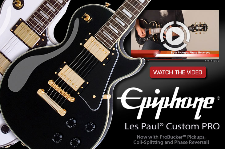 Epiphone Introduces the Les Paul Custom PRO
