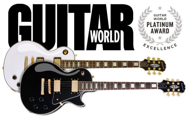 Epiphone Les Paul Custom PRO Scores Guitar World Platinum Award!