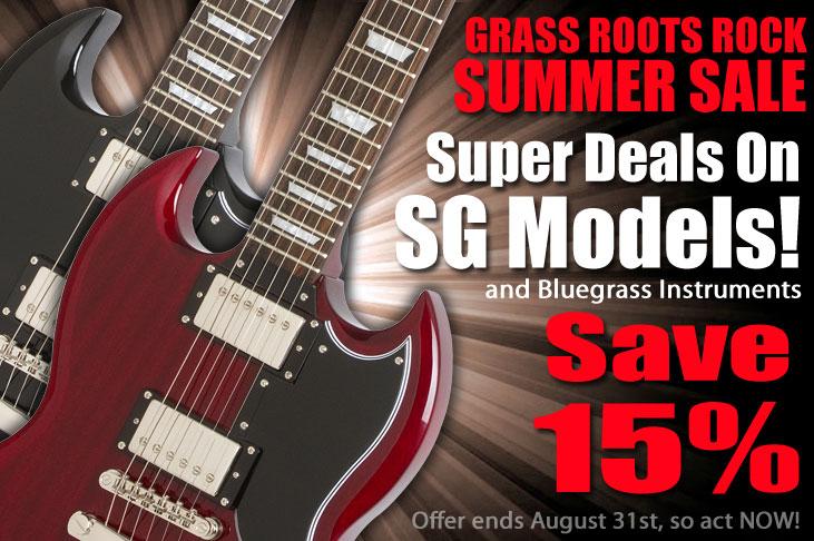 Epiphone's Grass Roots Rock Summer Sale