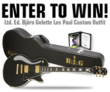 Enter to Win a Björn Gelotte Les Paul Custom Outfit
