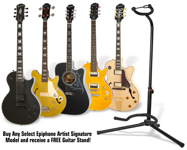 It's Epiphone Artist Month! Get a Free Guitar Stand