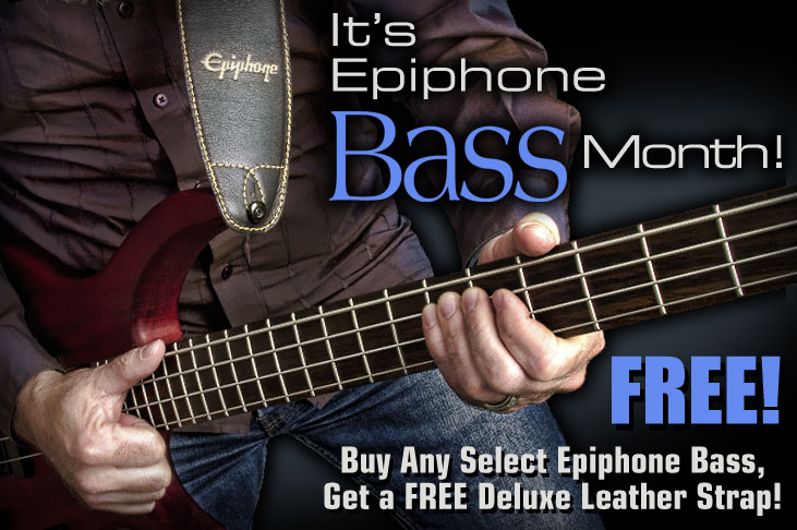 It's Epiphone Bass Month! Get a Free Deluxe Leather Strap