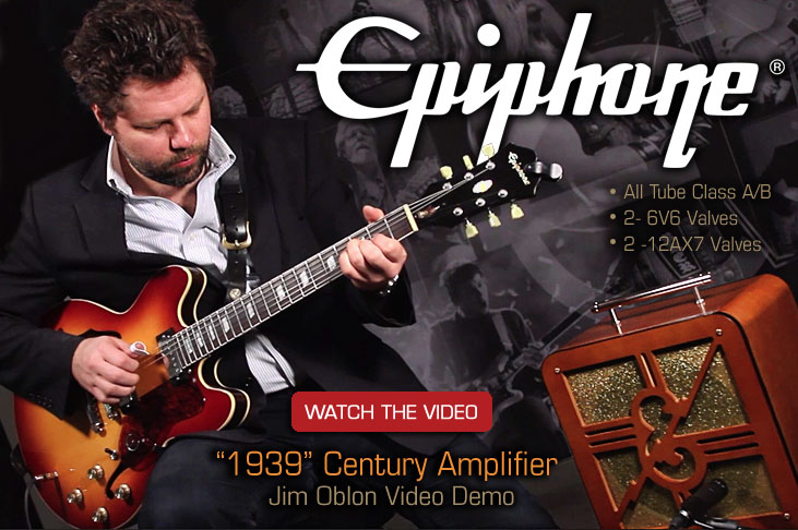 Jim Oblon Demonstrates The Epiphone 75th Anniversary Inspired by 1939 Century Amplifier