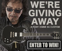 Enter to Win a Tony Iommi SG Custom!