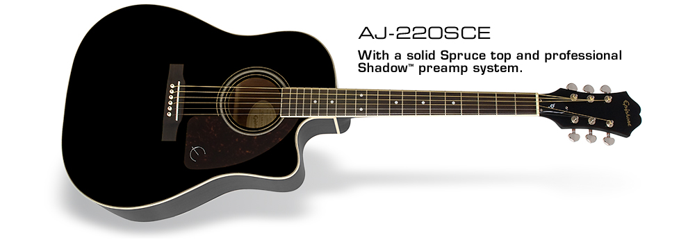 AJ-220SCE: Featuring Solid Sitka Spruce and Solid Mahogany Tops!