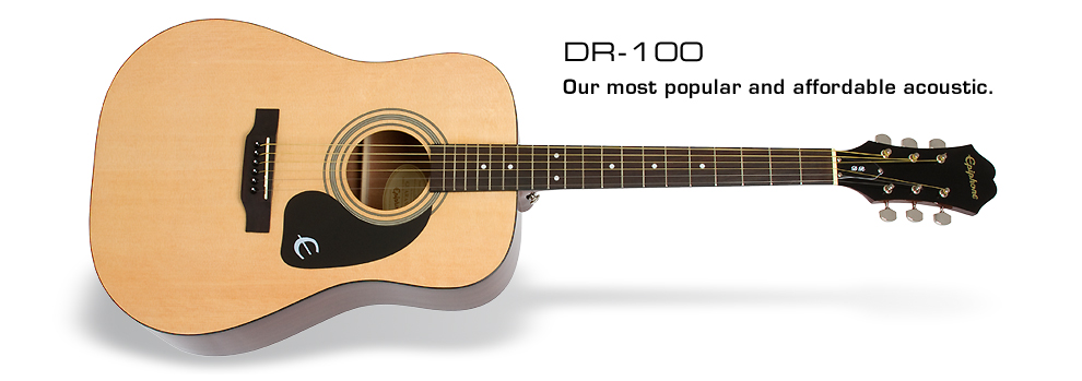DR-100: Epiphone's most popular and affordable acoustic