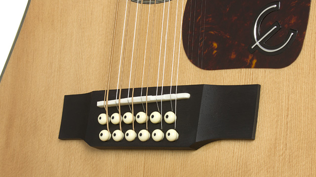 The Extra Tension Of 12 Strings Tuned To Standard Tuning Classic Black Vintage Style Pickguard Is Easy Spot On Stage Or Across Room And Has