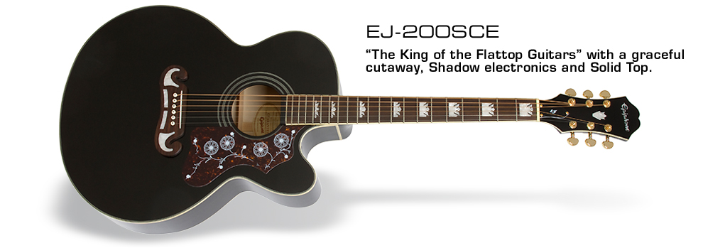 EJ-200SCE: The King of the Flattop Guitars with a graceful cutaway for added fret access