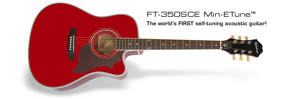 FT-350SCE: The world's FIRST self-tuning acoustic guitar!