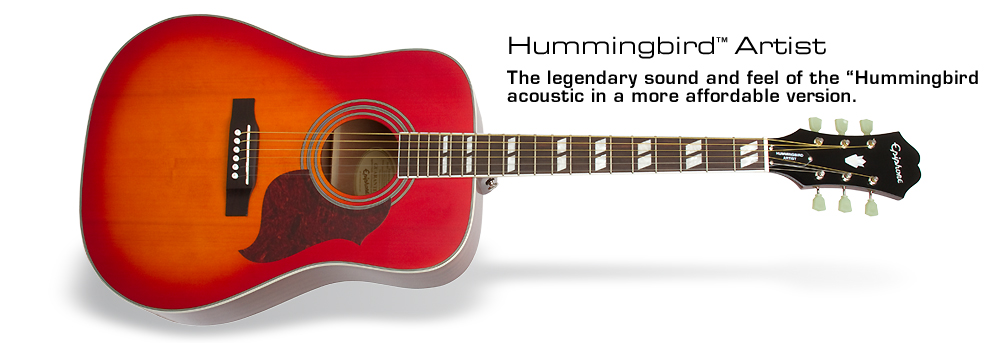 Hummingbird Artist: The legendary sound and feel of the Hummingbird acoustic in a more affordable version