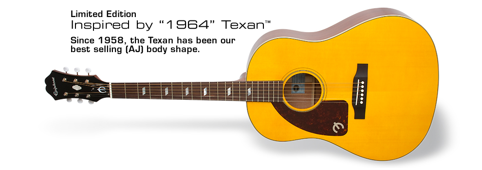 Inspired by 1964 Texan (LH): Since 1958, the Texan has been our best selling AJ body shape